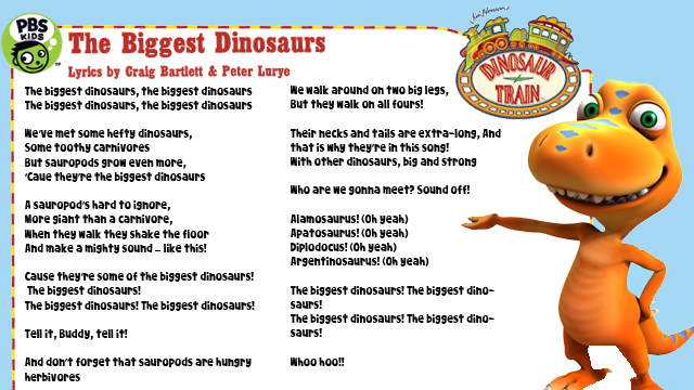 Sing The Biggest Dinosaur Song!